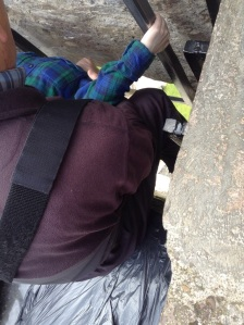 Jill kissing the Blarney stone