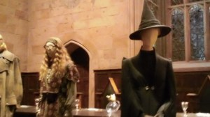 Professors Trelawney and  McGonagall at Harry Potter studios outside of London